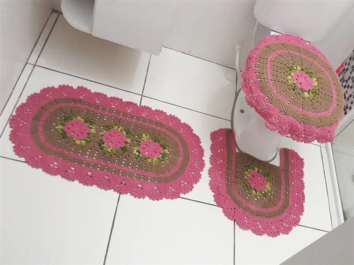peças de croche para banheiro