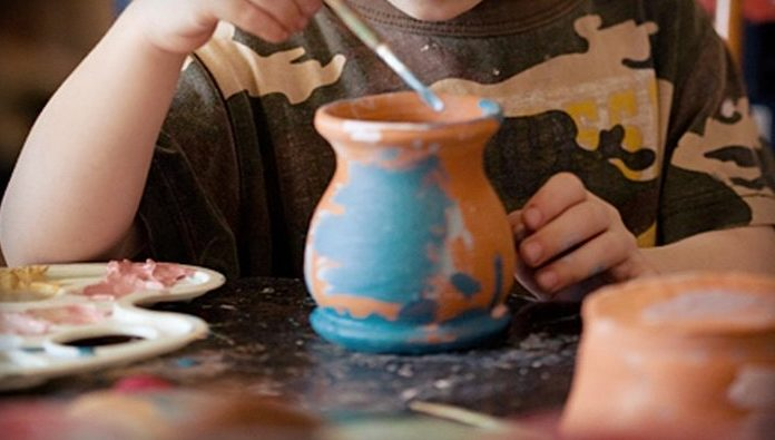 pintura em argila