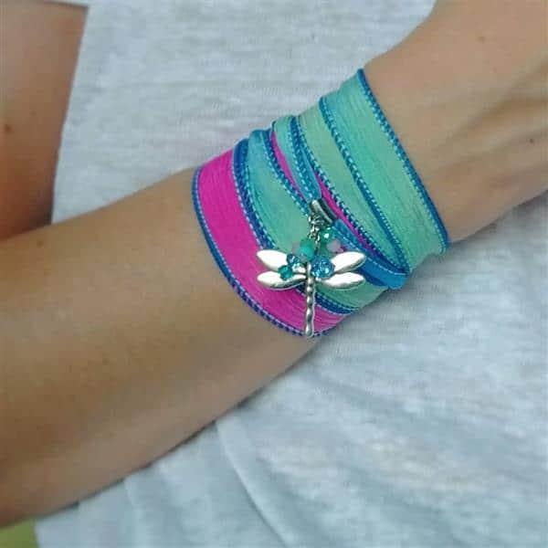 pulseira de tecido cetim