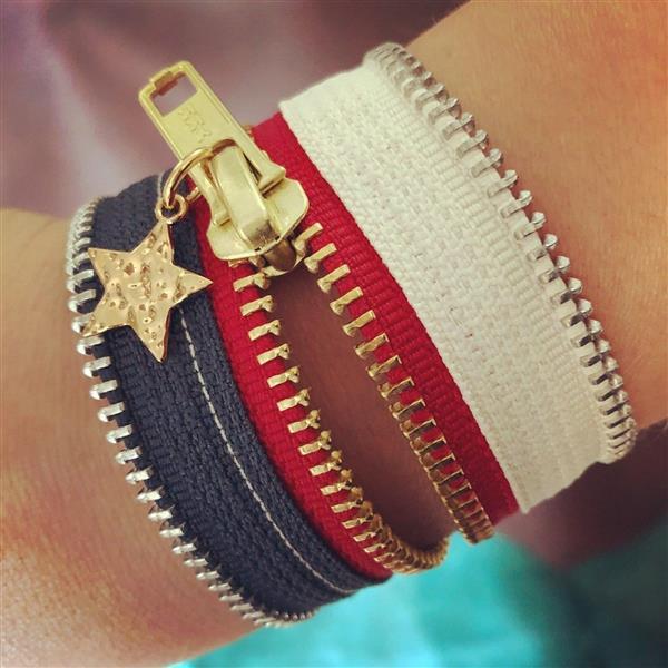 pulseira de ziper