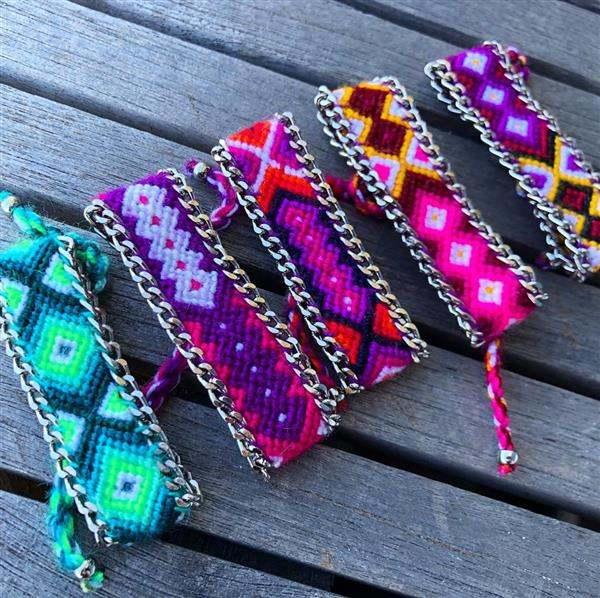 pulseira tecido hippie