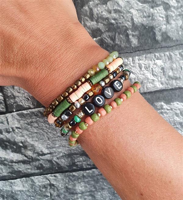 pulseiras verde