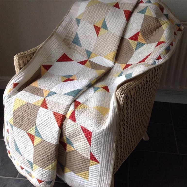 manta para sofá em quilt irlandês