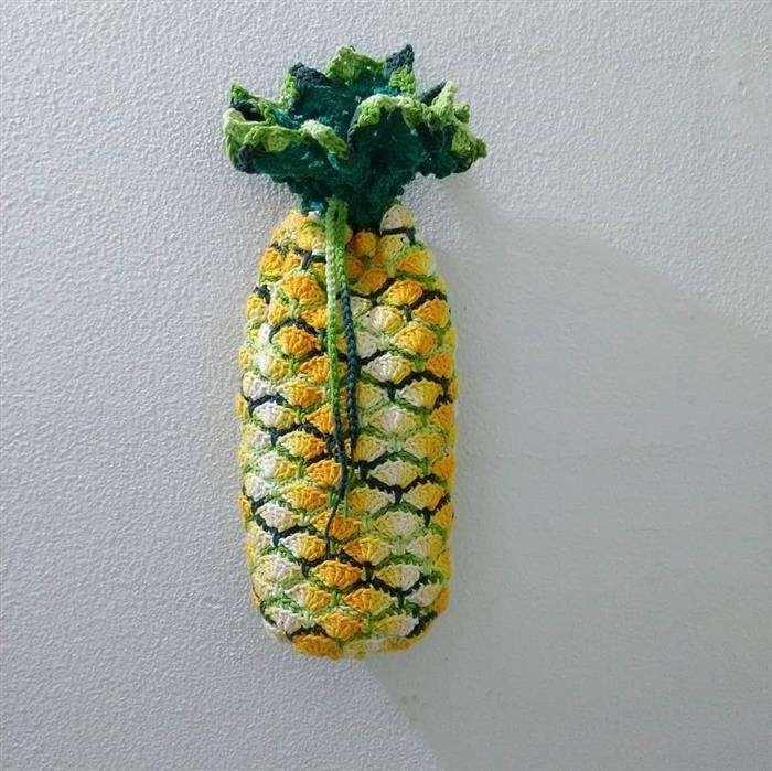 saco de abacaxi de croche