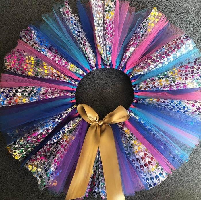 saia colorida com brilho