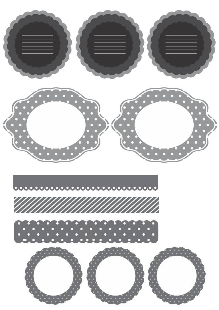 tags preto e branco grátis para imprimir