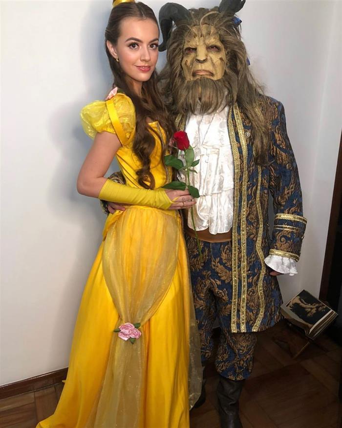 fantasia de a bela e a fera para casal