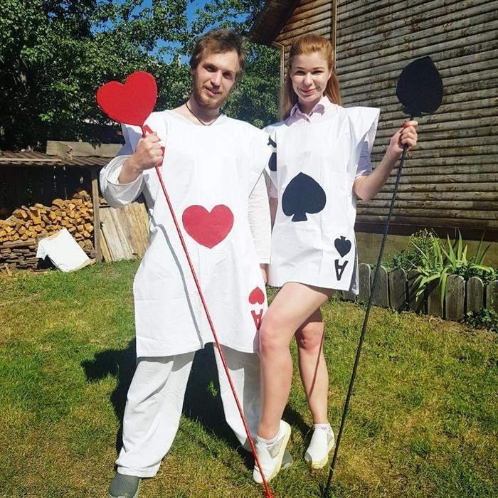 fantasia de jogo de baralho para casal