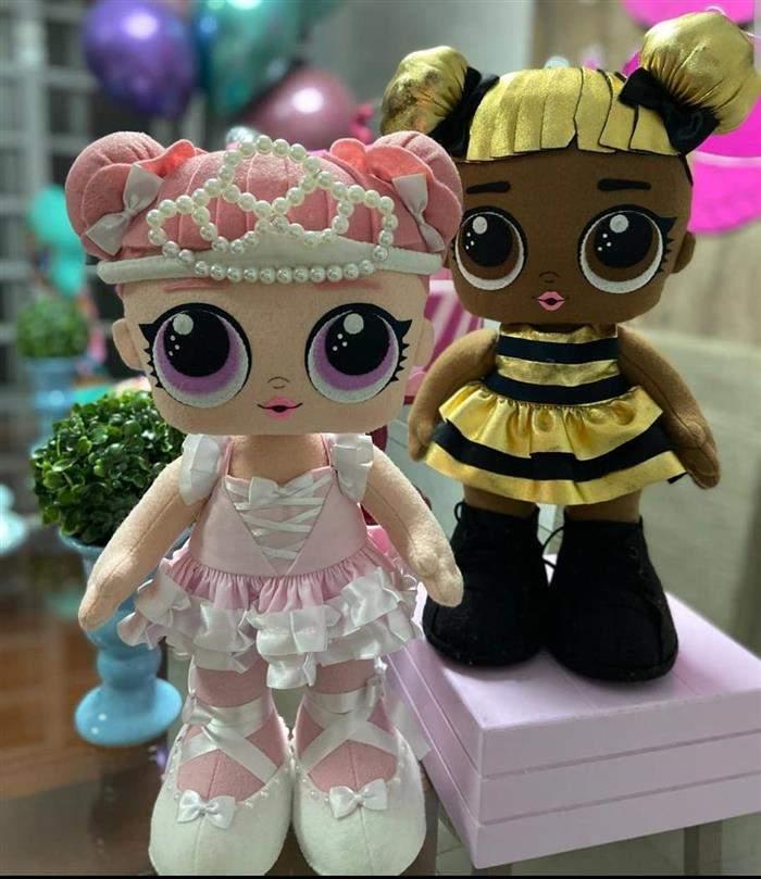 bonecas lol de feltro