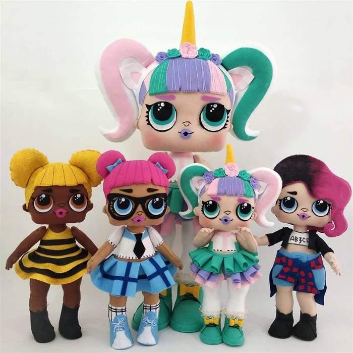 coleção de bonecas de feltro lol
