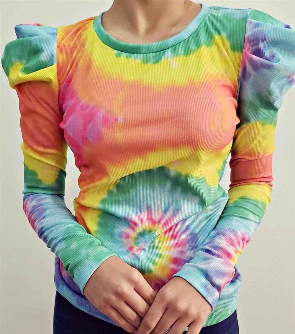blusa feminina tie dye
