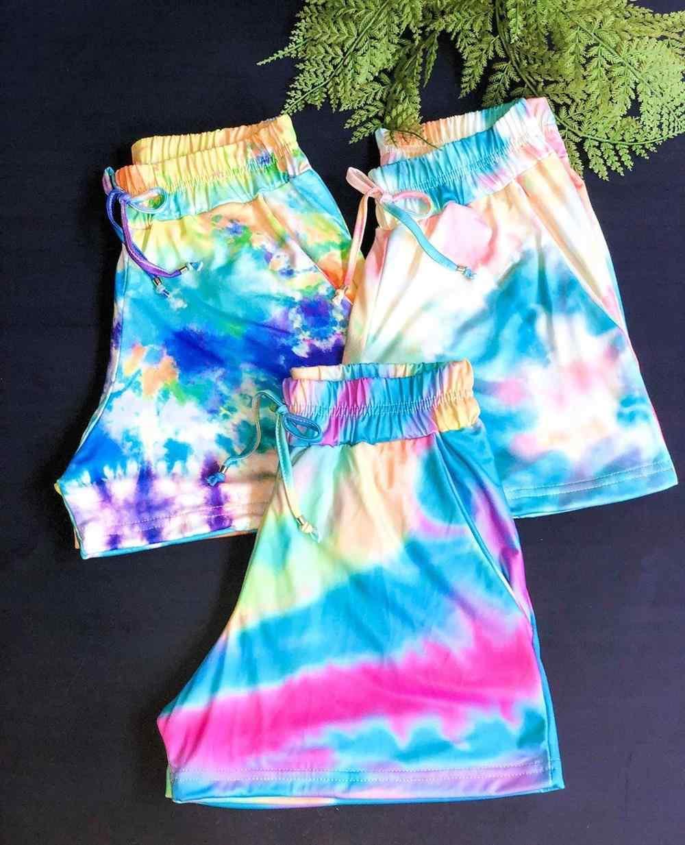 ideias de short tie dye