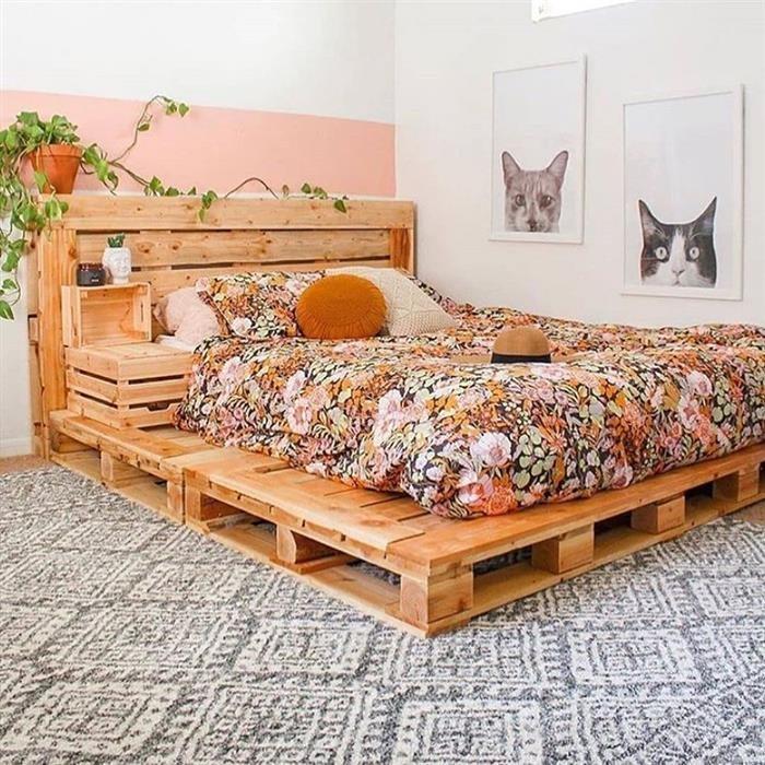 cama de caixotes