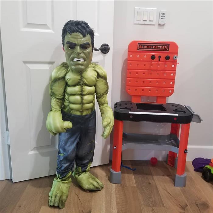 fantasia de hulk infantil