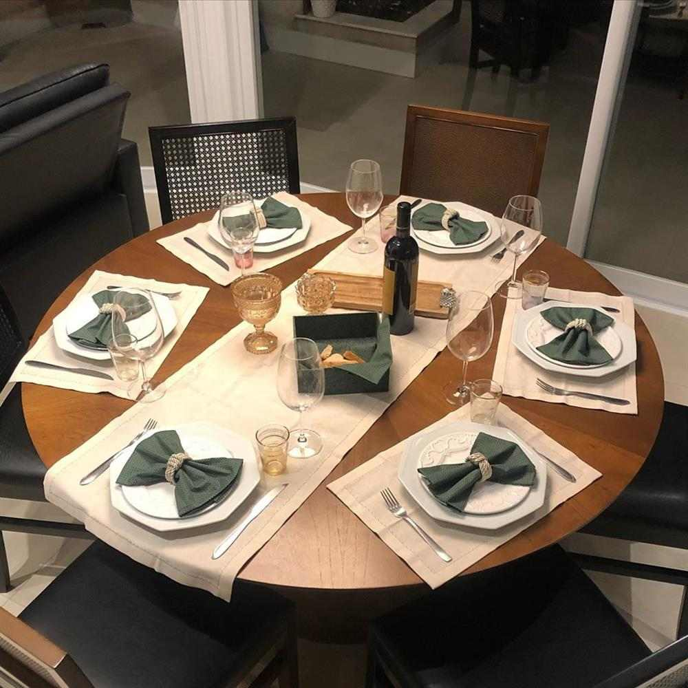 decoração de mesa redonda