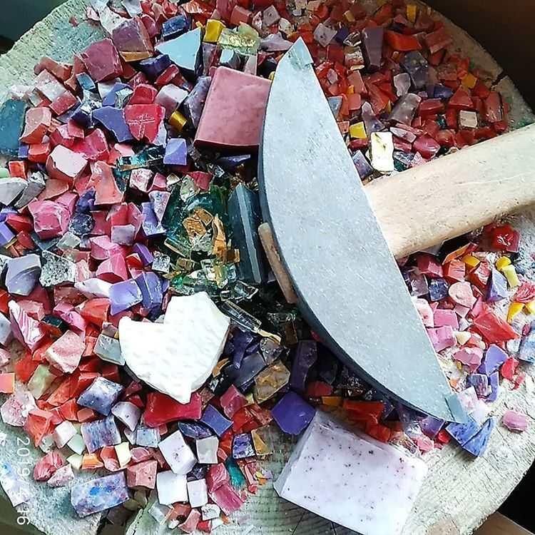 mosaico cortado