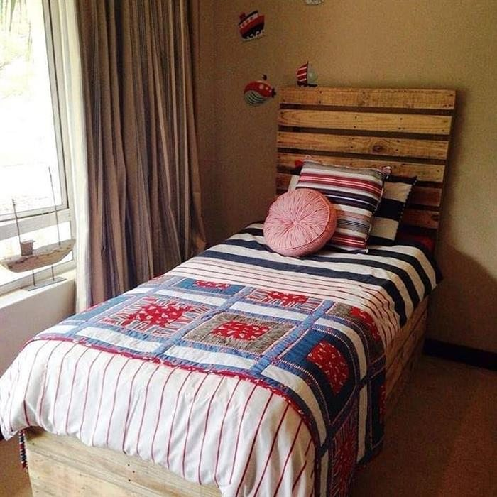 cabeceira de pallet para cama de solteiro
