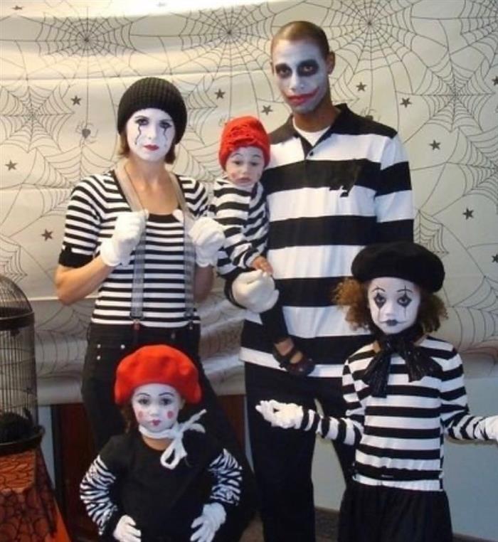 fantasia criativa assustadora para grupo