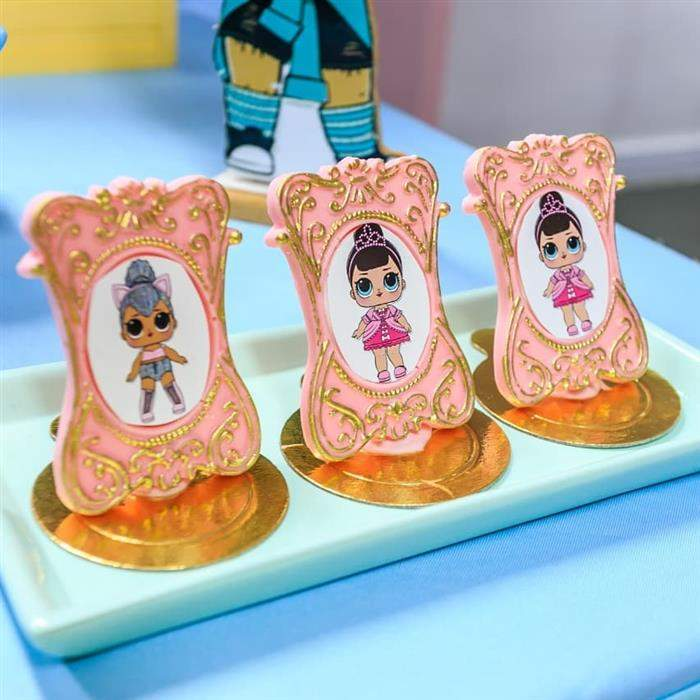 porta retrato de chocolate com bonecas