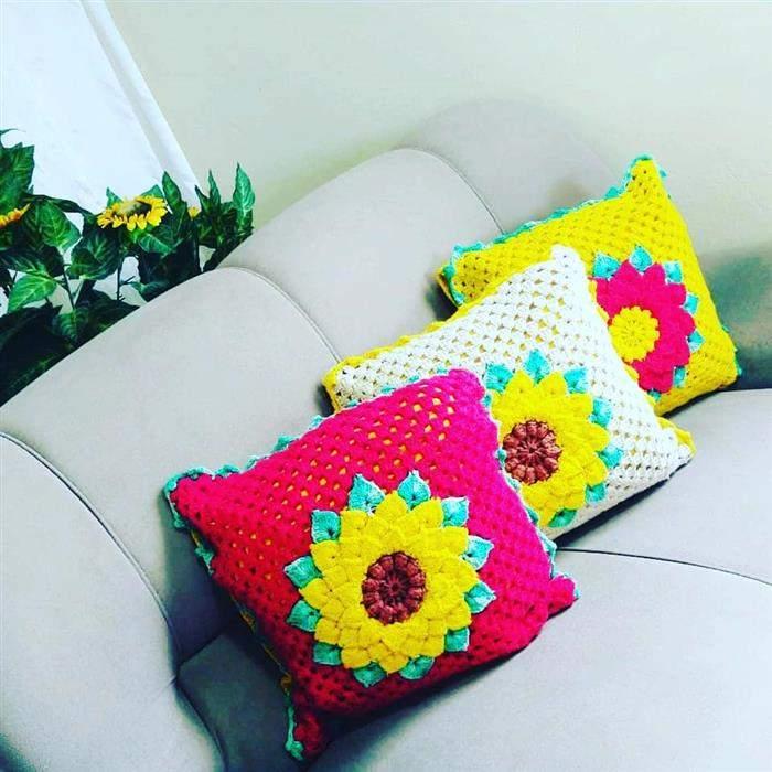 almofada coloridas