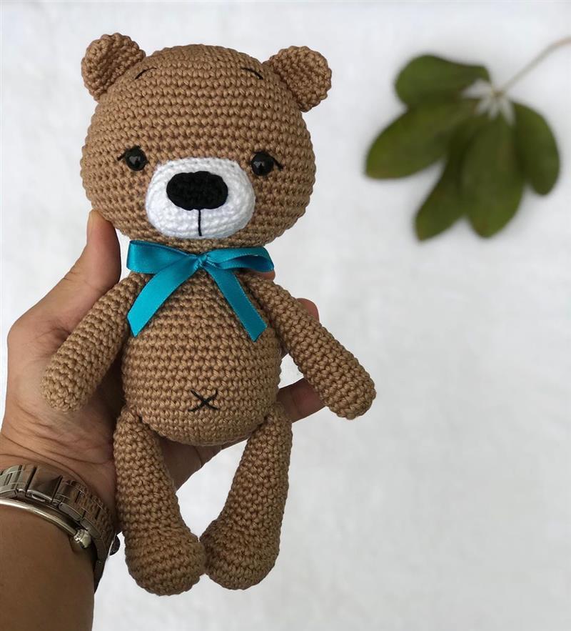 urso amigurumi euroroma