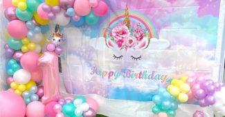 festa infantil com arco de balões