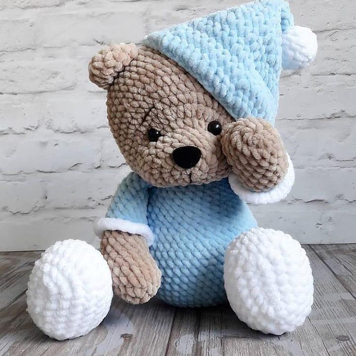 ursinho dorminhoco com pijama