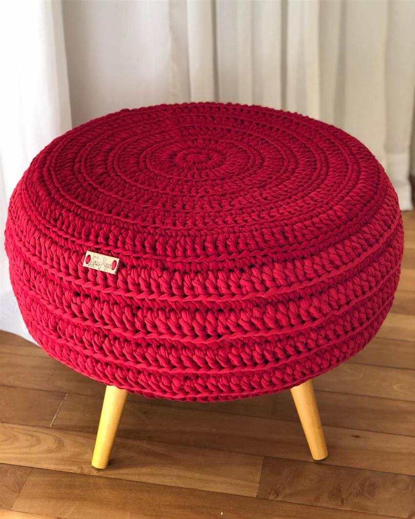 vermelho em croche