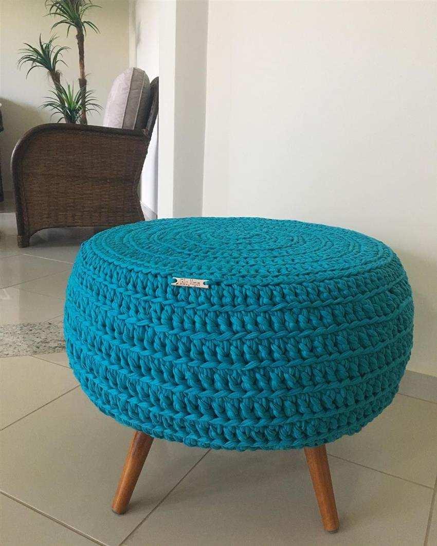 capa de croche azul