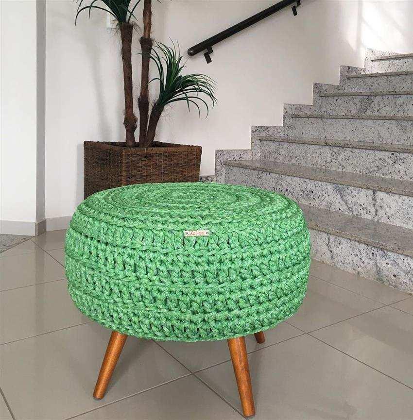 Capa de crochê verde