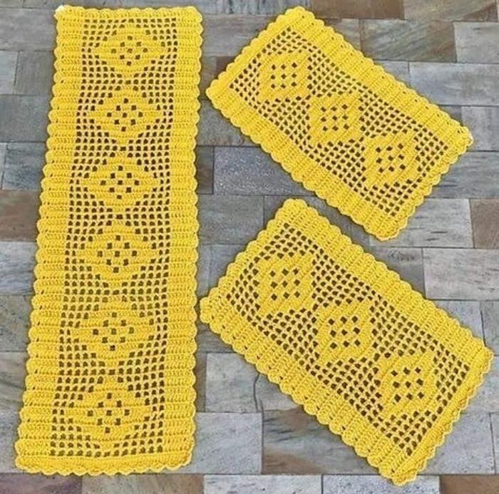 barbante barroco amarelo