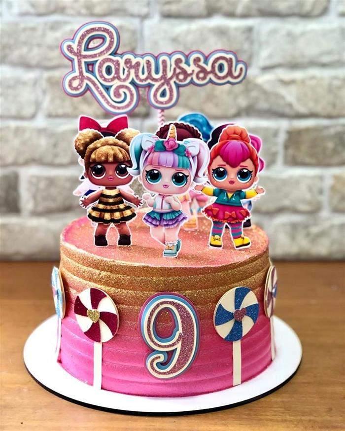 bolo pequeno decorado lol
