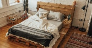 cabeceira de cama de pallet completa