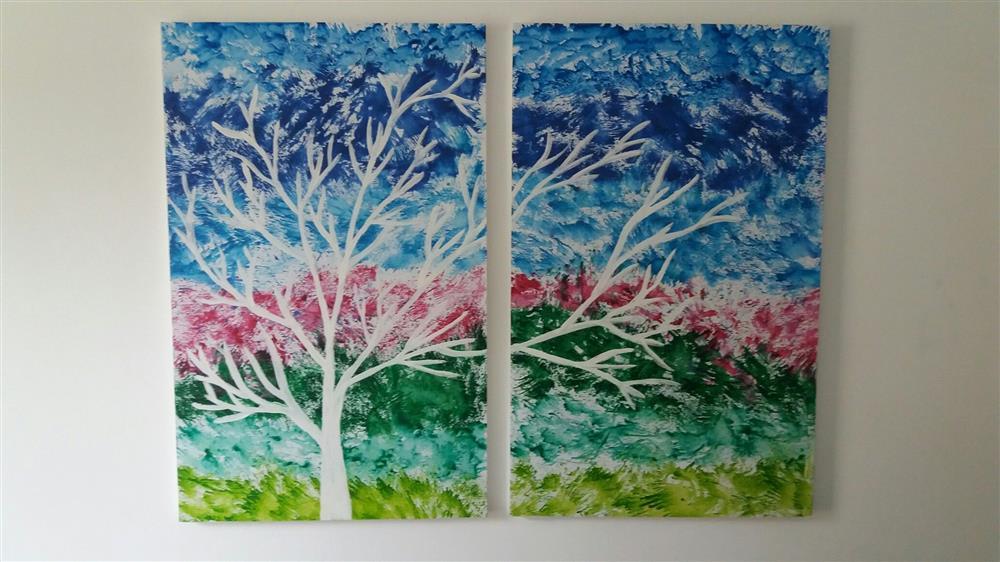 pintura com giz de cera