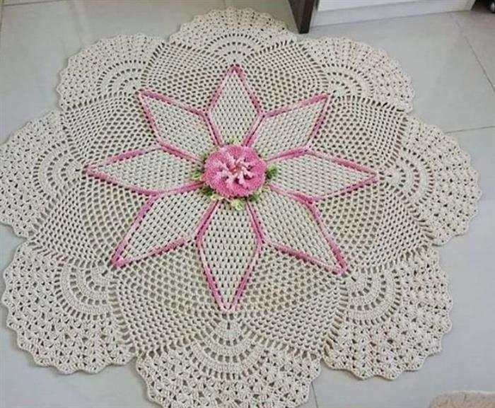 centro de mesa de croche