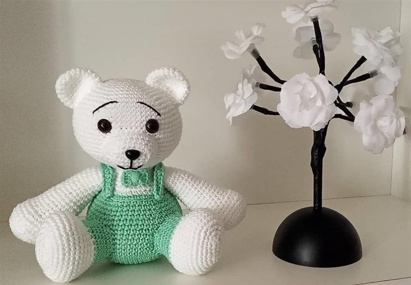 roupa para urso amigurumi