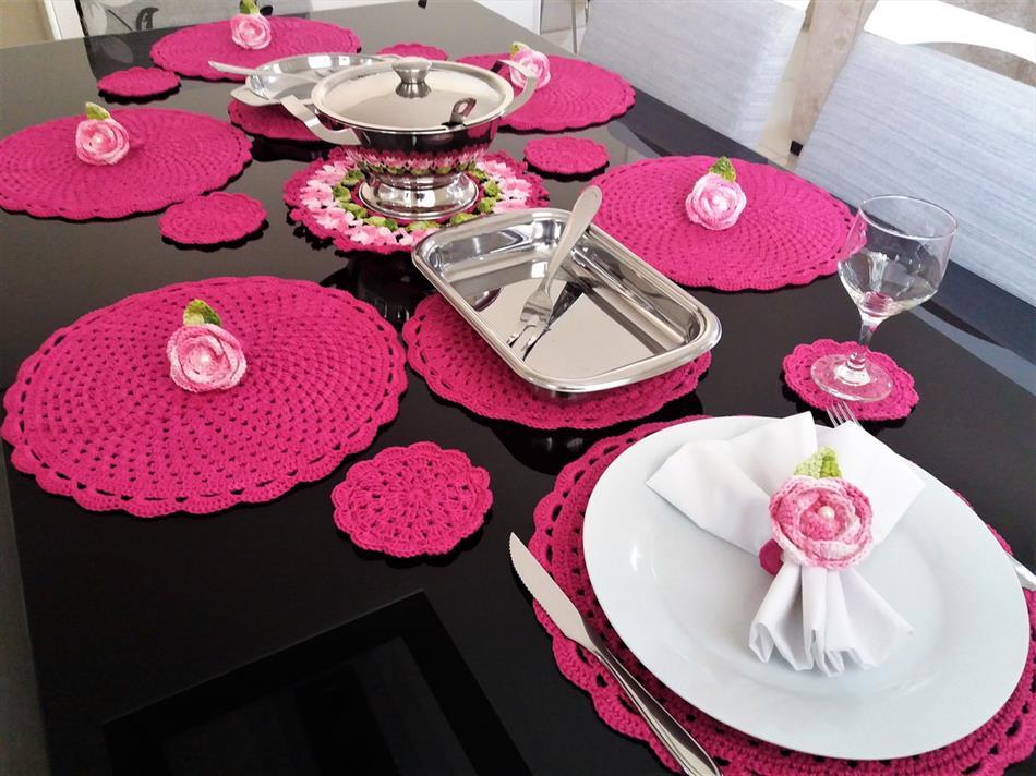 mesa de jantar rosa