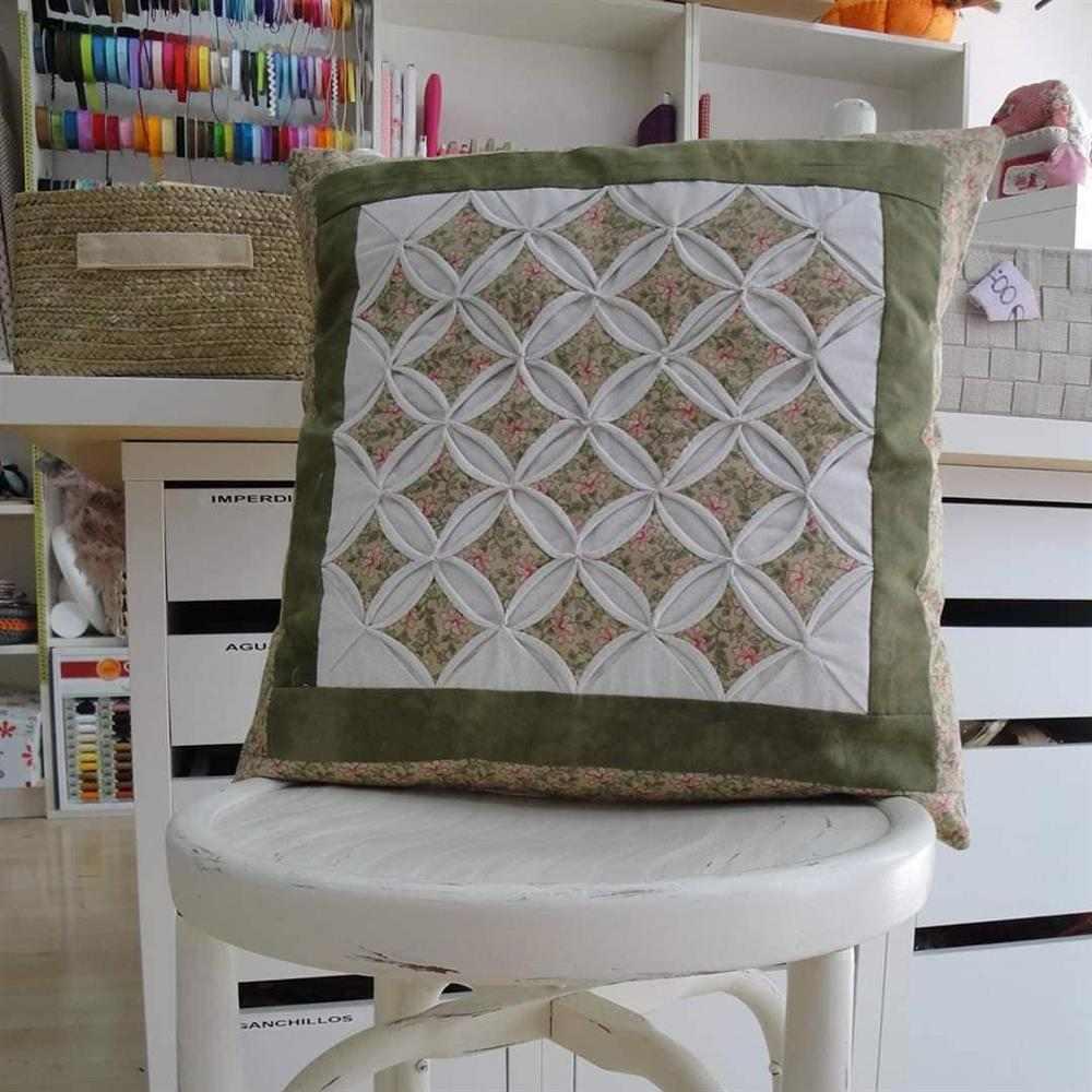 Almofada de retalhos de tecido