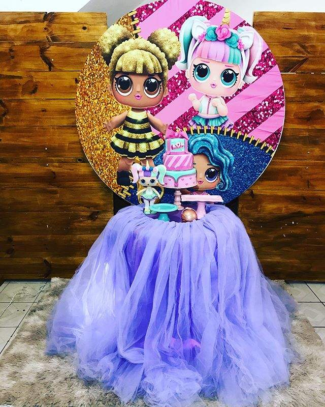 decoração com saia para festa