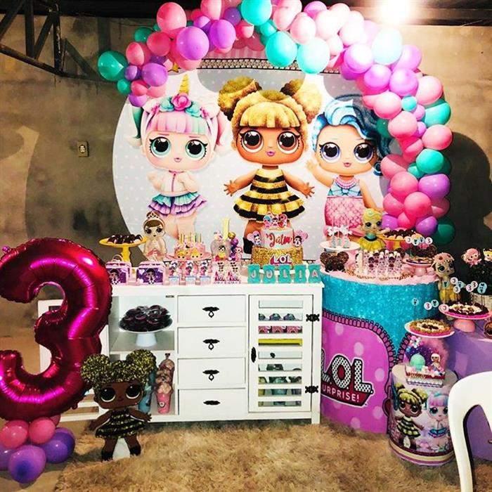 decoração lol para festa de 3 anos