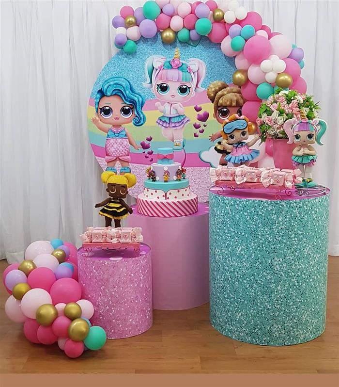 decoração para festa lol pequena