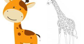 desenhos de girafa para colorir