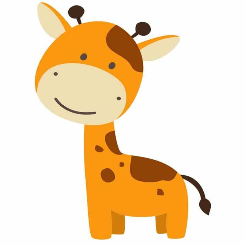 desenho de girafa pintada