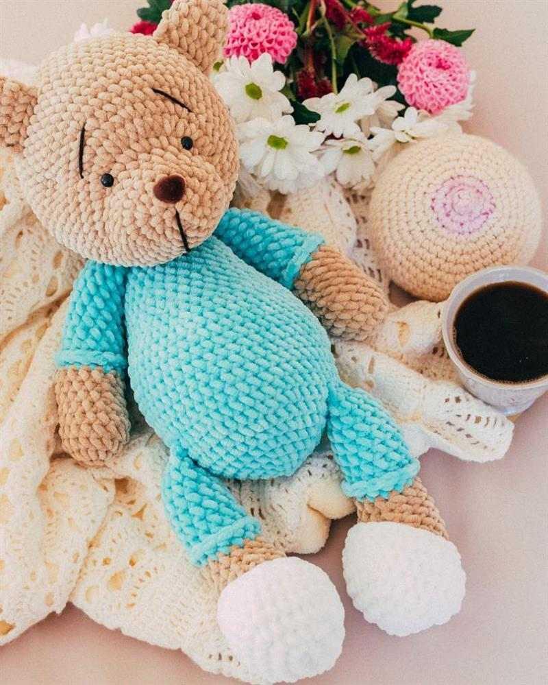 urso em amigurumi
