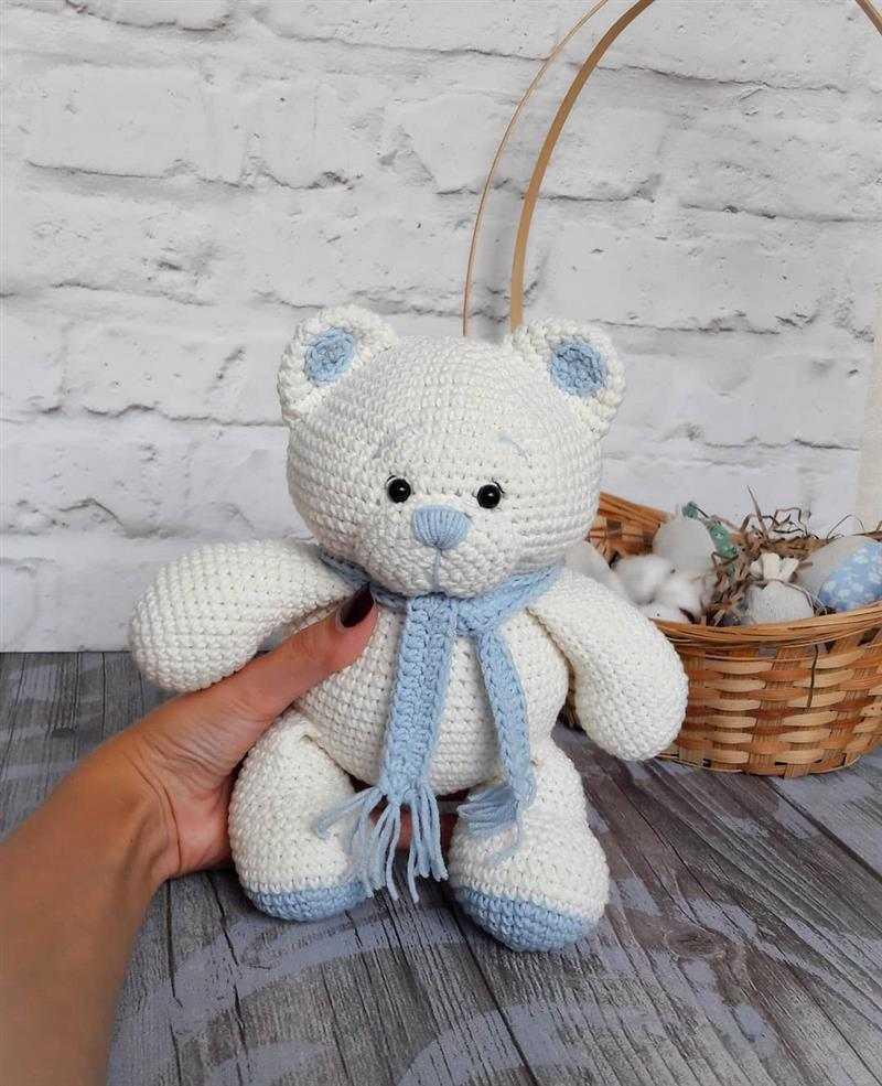 ursinho infantil com cachecol