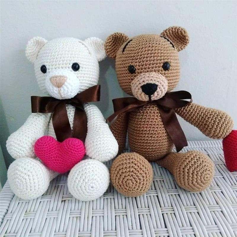 familia urso amigurumi