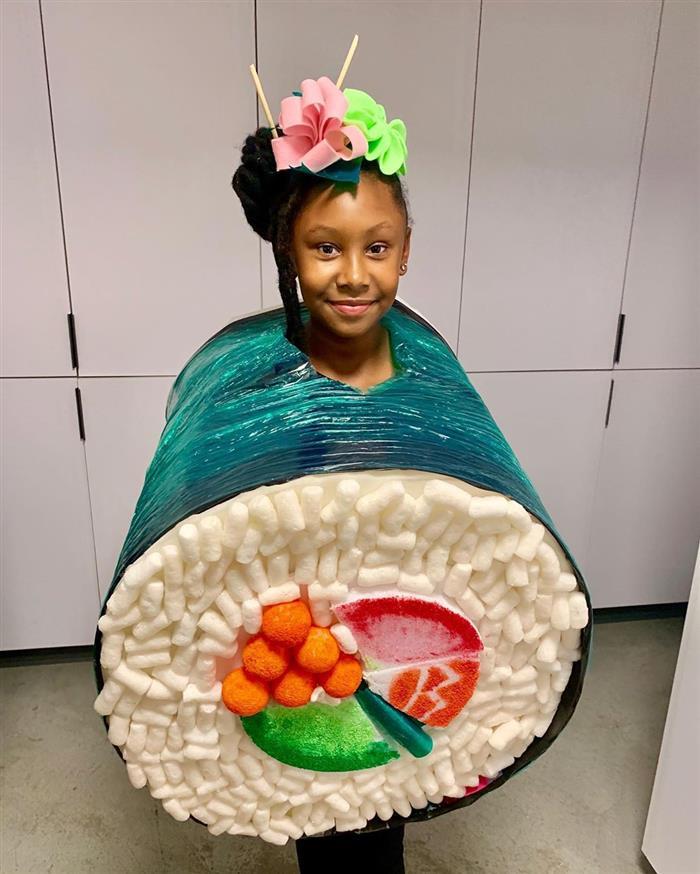 fantasias infantil de sushi