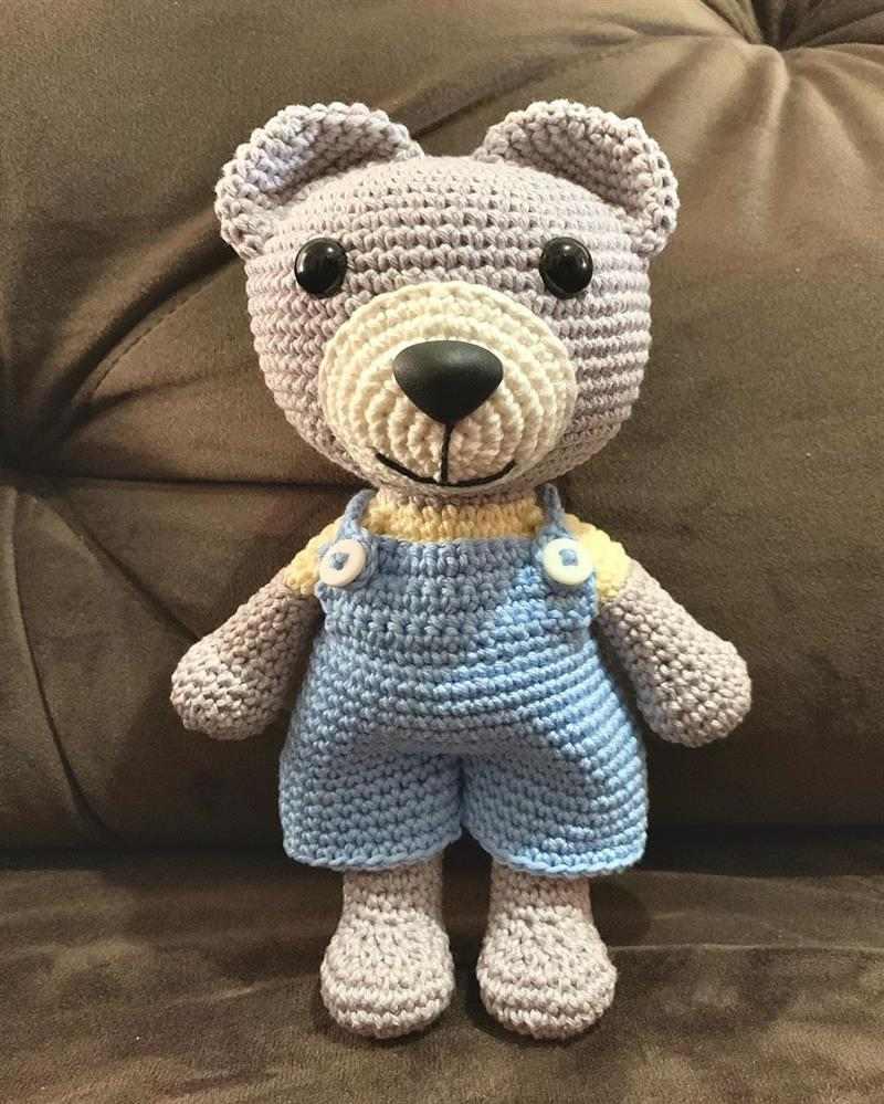 focinho urso amigurumi