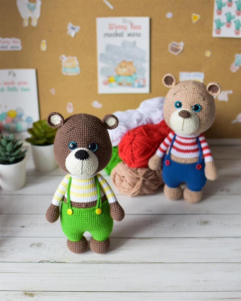 urso amigurumi passo a passo