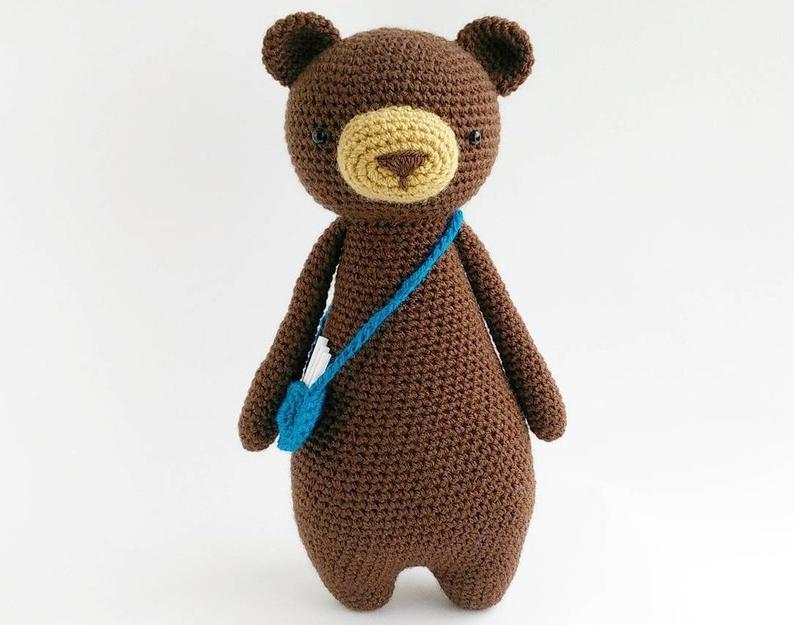 urso facil amigurumi
